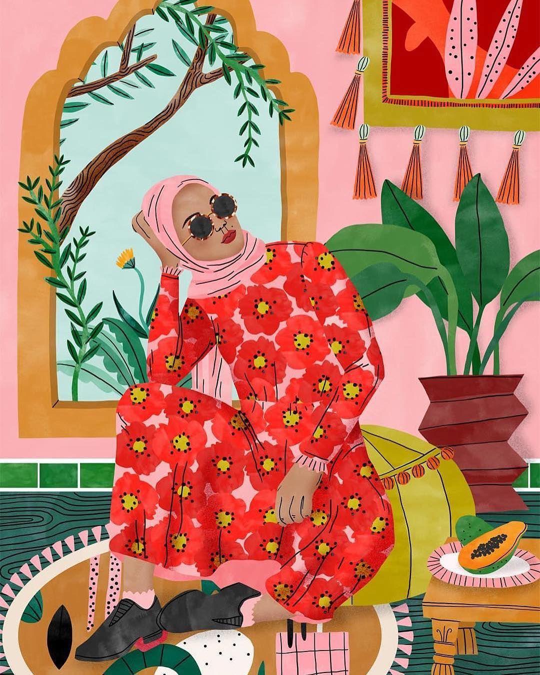 Moroccan Dreams By Illustrator Bodiljane Love The Flower