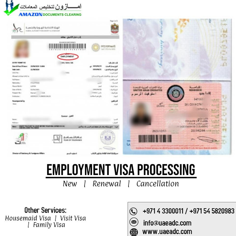 Visa Renewal Uae Business Visa Visa Employment