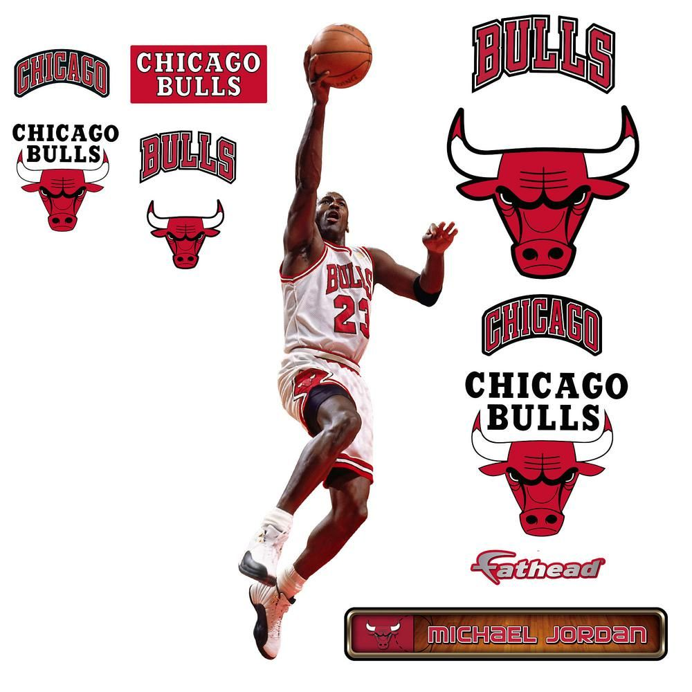 W Michael Jordan Layup   Fathead Jr Wall Part 78