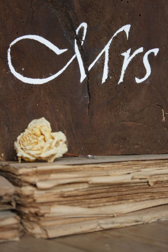 Old Wood Mr and Mrs Sign Rustic Wedding Decor by kashturana