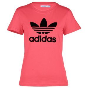 adidas Originals Trefoil S/S Logo T-Shirt - Women's - Sport Inspired - Clothing - Super Pink/Black