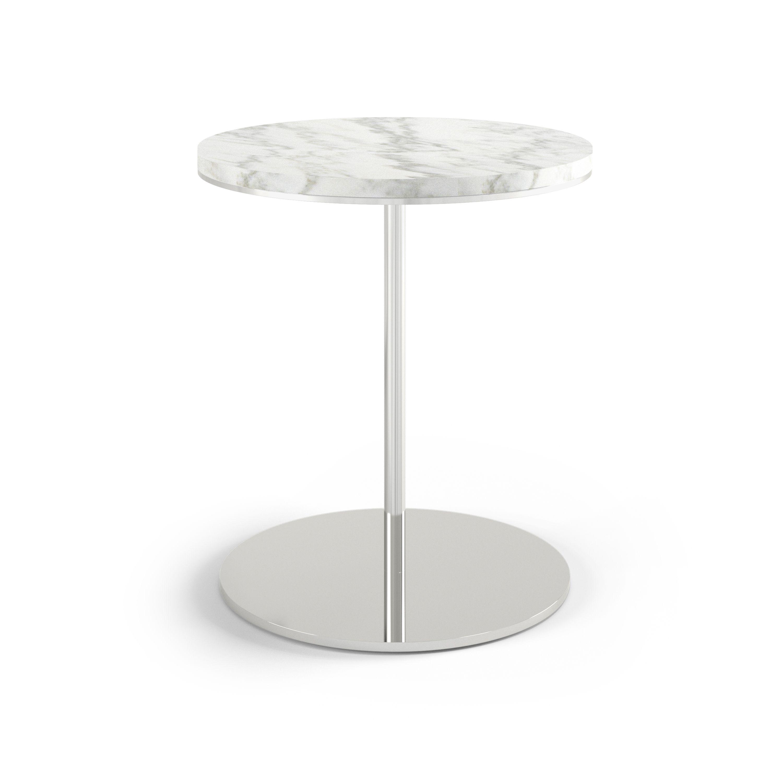 DG ST205CAS Plateau Side Table Carerra Stone Top Metal