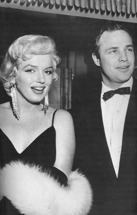Marilyn Monroe & Marlon Brando at the premiere of The Rose Tattoo 1955.