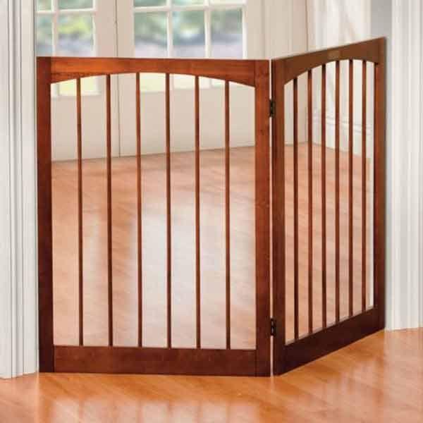 Barkshire 2 Panel Folding Dog Gate 132 X 91cm On Sale Free Uk