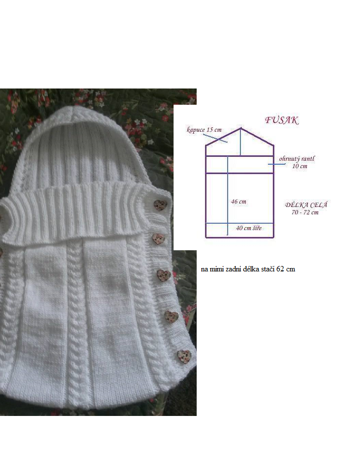 pletený fusak na miminko | Barnbarn | Pinterest | Baby knitting ...