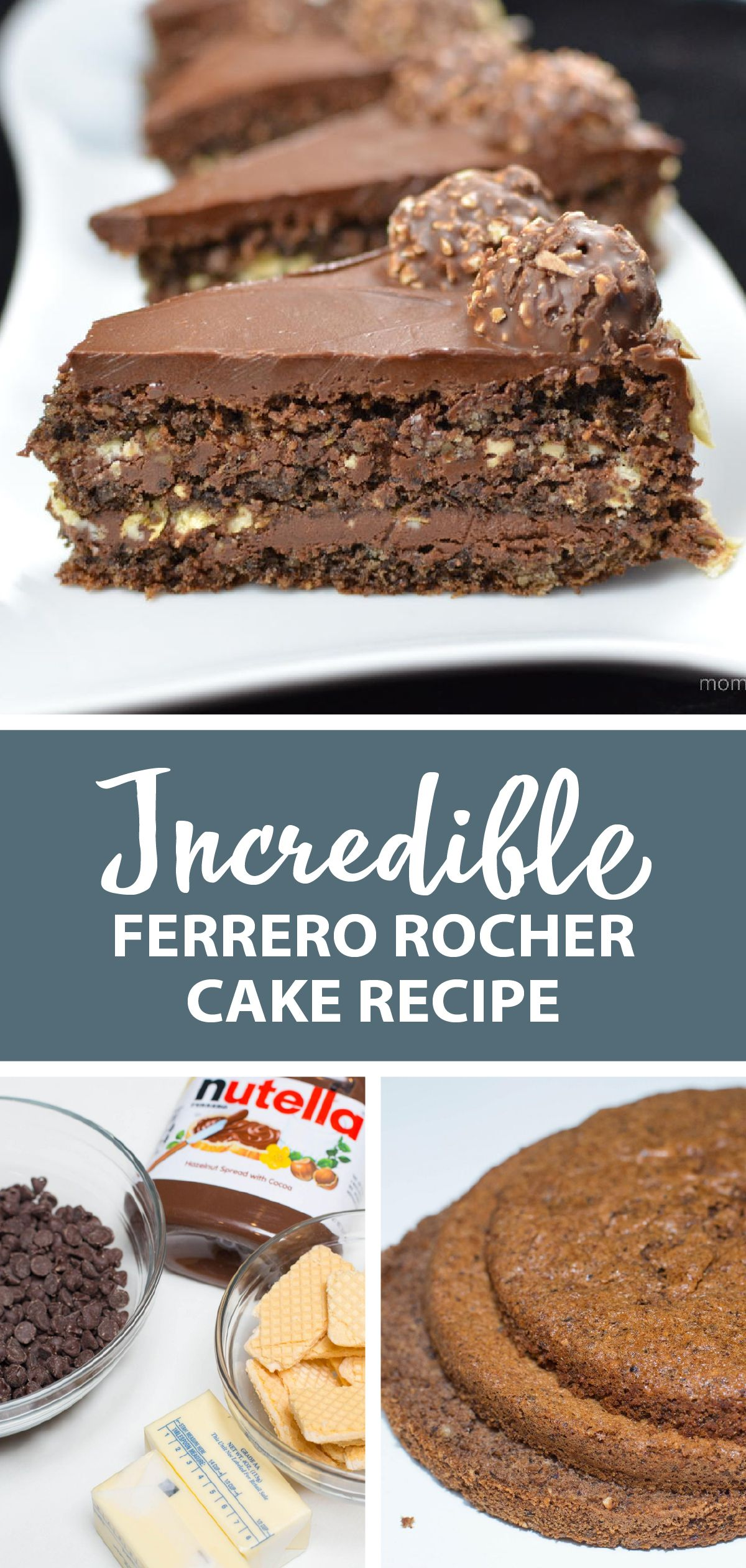 ferrero rocher cake an easy cake based off a candy this is the perfect dessert to have at the end of the day chocol in 2020 ferrero rocher cake cake recipes desserts pinterest