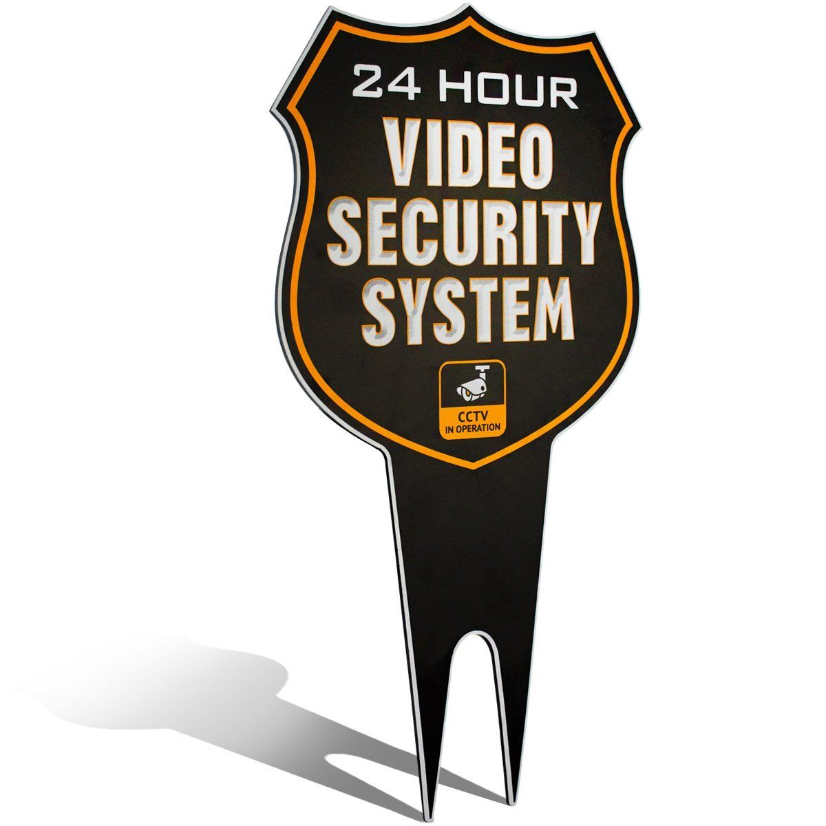 Warning 24 Hour Video Surveillance Security Camera System In Operation Metal Yard Sign Wireless Home Security Systems Security Camera System Home Security Systems