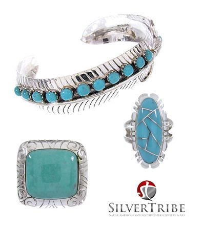 Check out our turquoise jewelry collection! it's the gemstone of December!