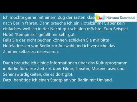Deutsche Brief A1 A2 B1 Prüfung Alle Briefe Youtube Learning