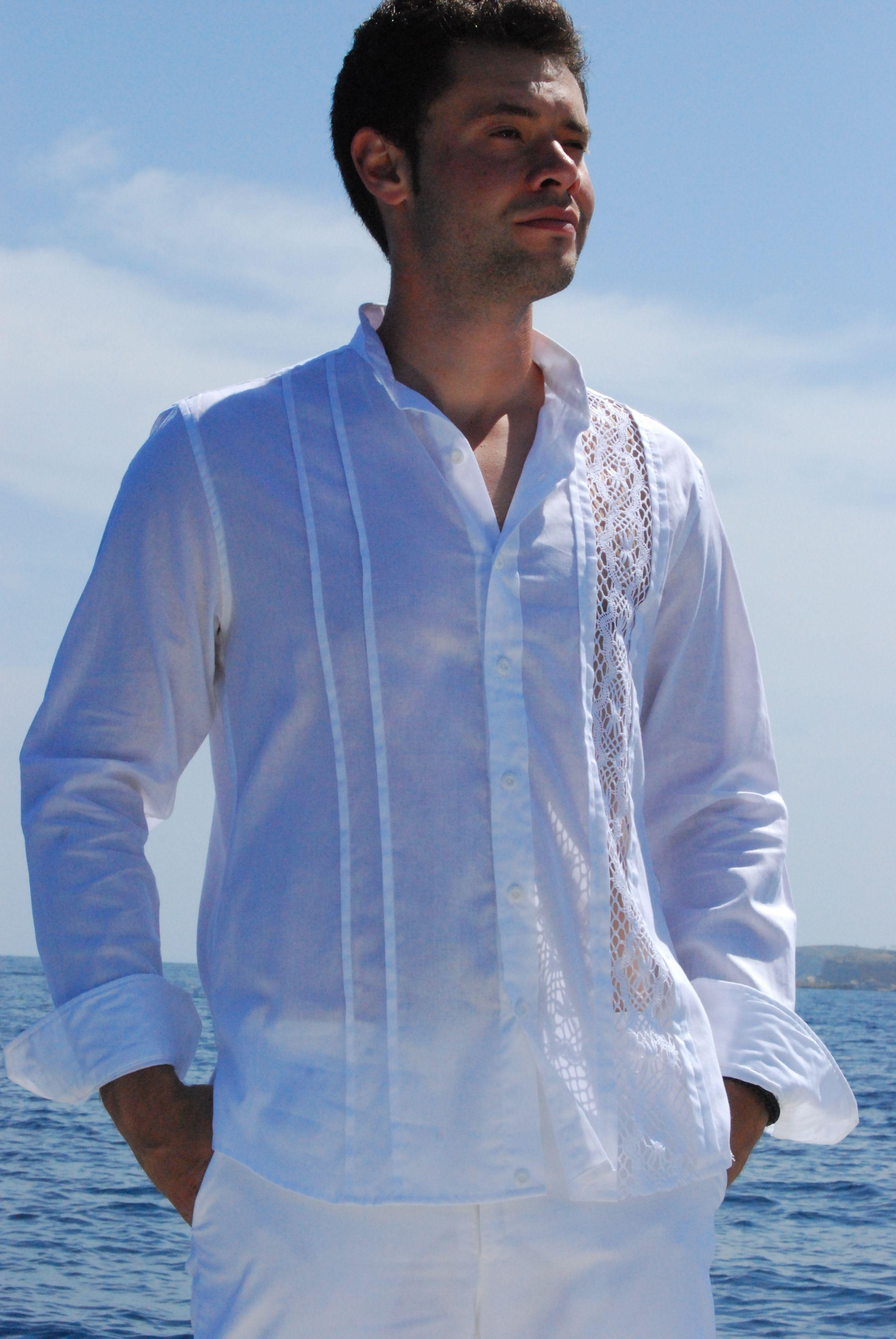 China Lino 100% de los hombres Guayabera camisetas de manga