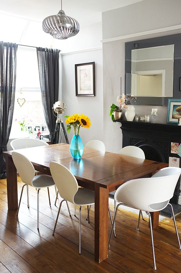 Heavy Wood Table Add Cool Modern Chairs Maybe In A Few Different Colors Victorian Dining
