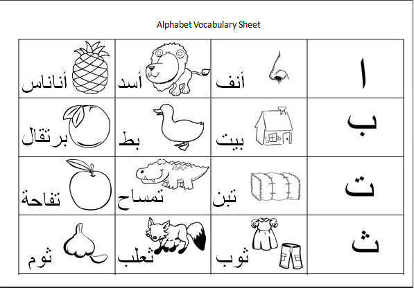 Arabic Handwriting & Activity Sheets Alphabet Worksheets, Handwriting  Activities, Arabic Worksheets