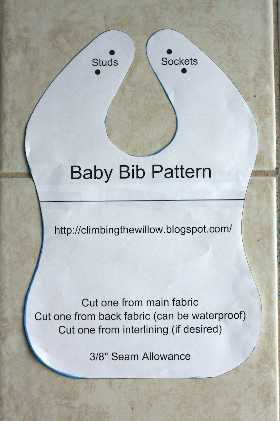 Baby Bib Pattern Simple Decorating Ideas