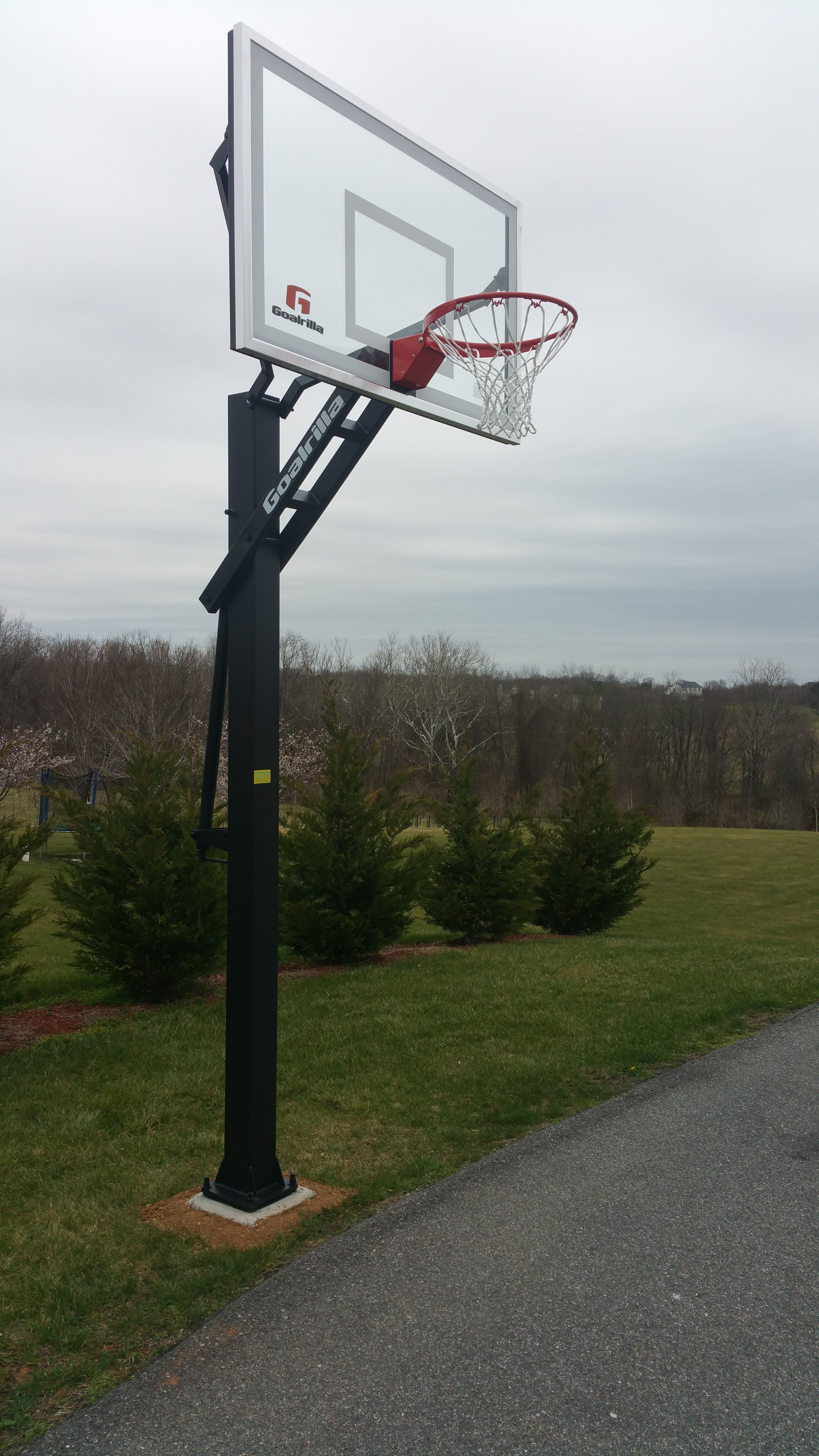Goalrilla In Ground Basketball System Installed By Any Assembly In
