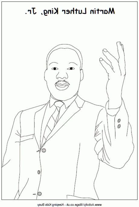 Coolest martin luther king jr coloring sheet printables