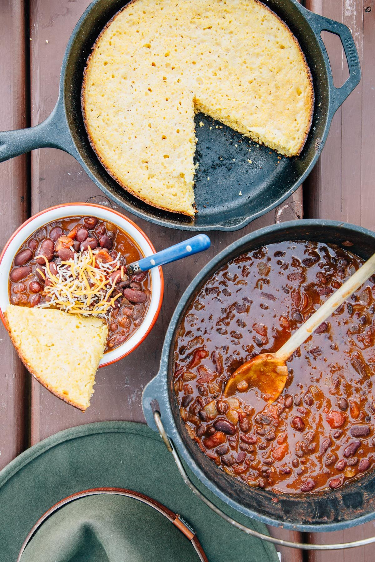Five can chili camping recipe by fresh off the grid
