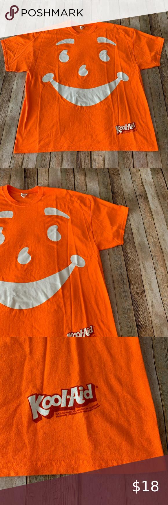 Kool Aid Graphic Tee Shirt Size Xxl Graphic Tee Shirts Tee Shirts Shirt Size