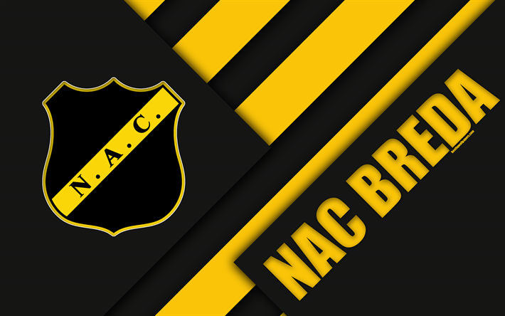 Download Wallpapers Nac Breda Emblem 4k Material Design Dutch Football Club Black And Yellow Abstraction Eredivisie Breda Netherlands Football Besthqwa Material Design Football Sports Wallpapers