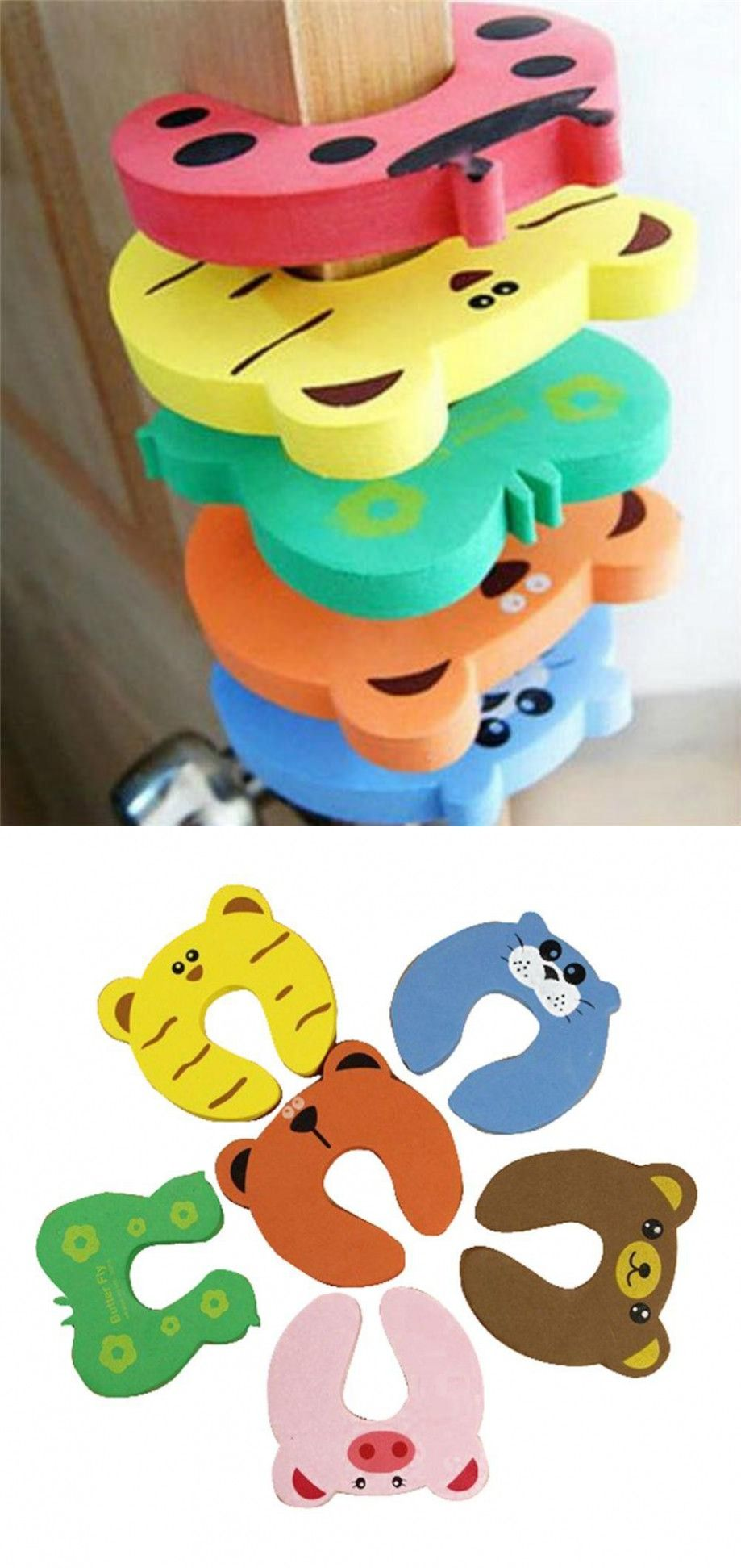 pcs child kids baby animal cartoon jammers stop door stopper