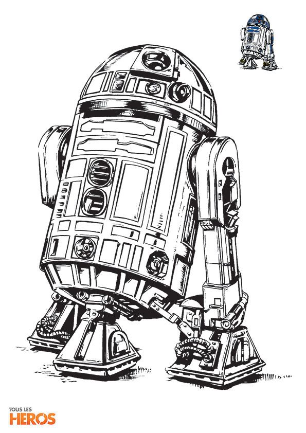 Coloriages Star Wars Le Celebre Droid R2d2 Images Diverses