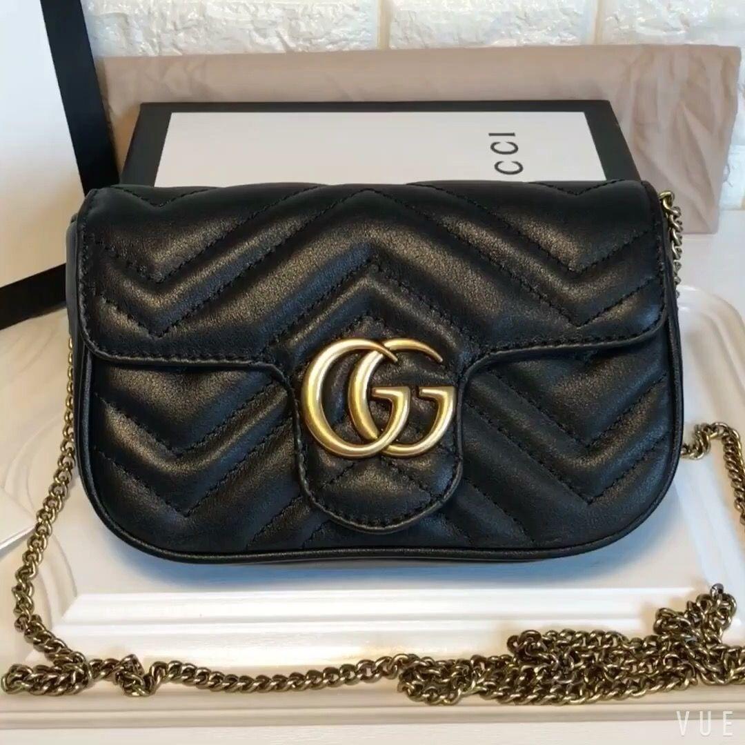 e5a40af13 Gucci super mini marmont chain pouch bag 16.5cm purse original leather  version