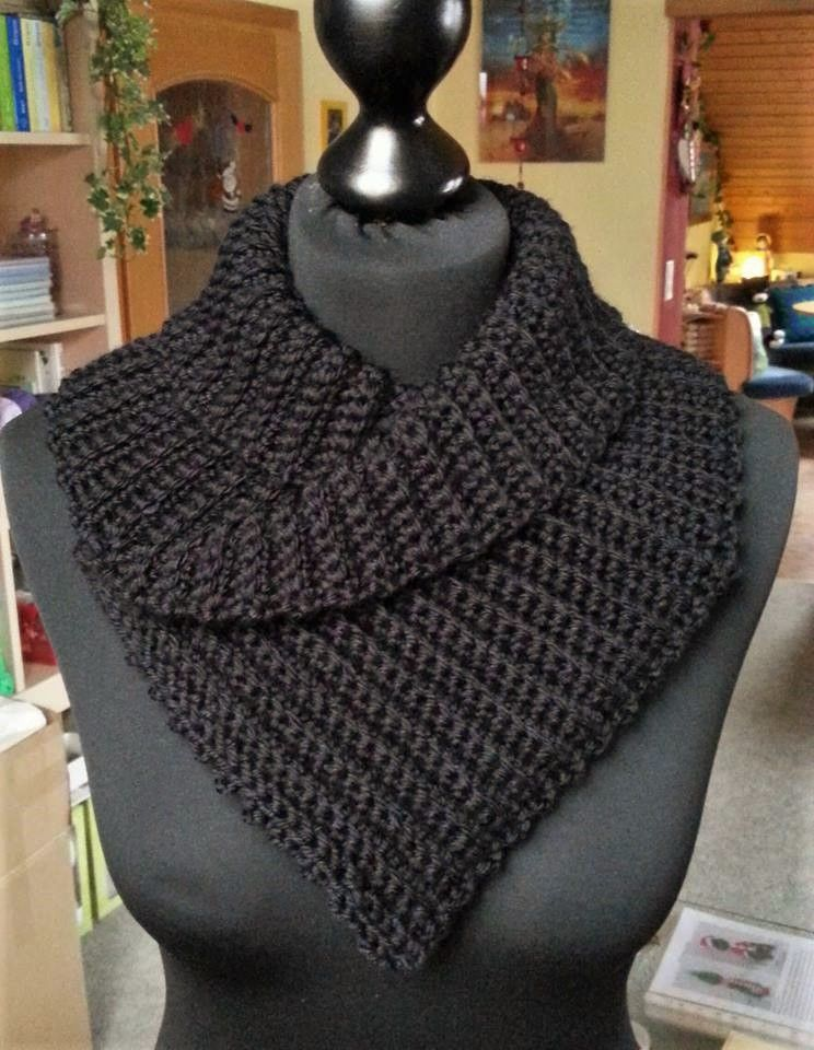 Photo of Crochet fever Austria, shawl collar, loop scarf, instructions for free, BLO, knitting …