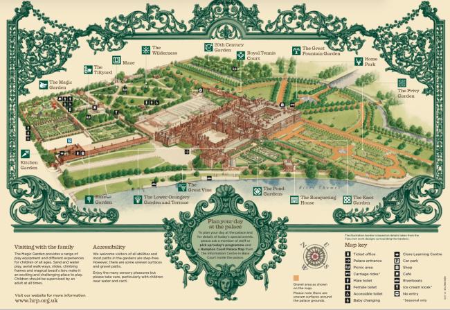 Hampton Court Flower Show Map Hampton Court Palace Gardens   Landscape NotesLandscape Notes