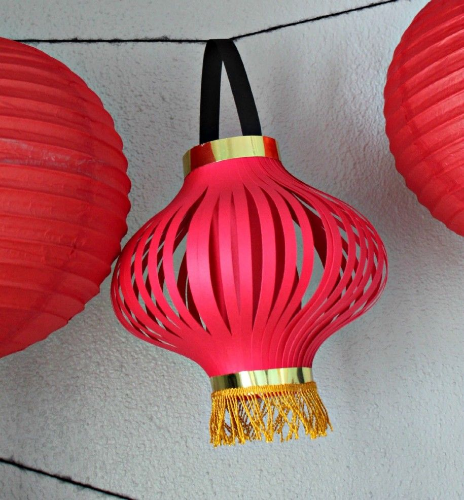 Easy DIY home decor inspired by Chinese New Year | Diy paper ... for Diwali Lamp Craft  34eri