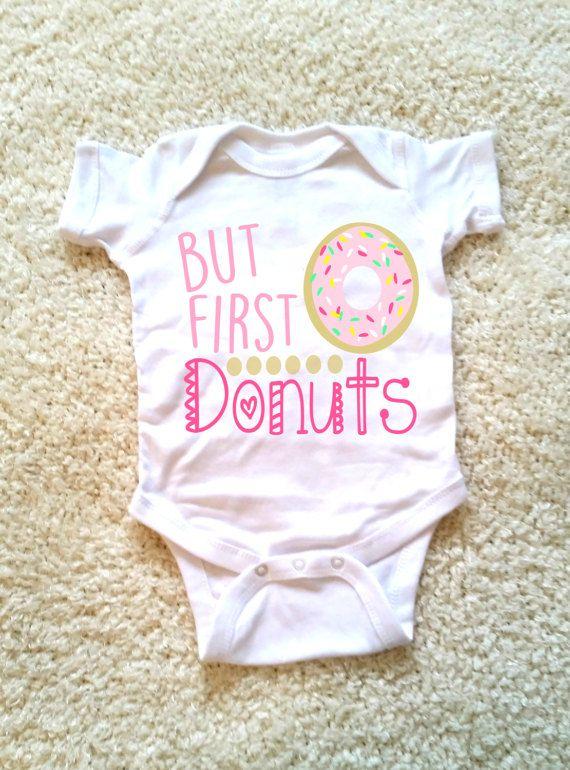 doughnut onesie donut onesie baby customizable colors vinyl