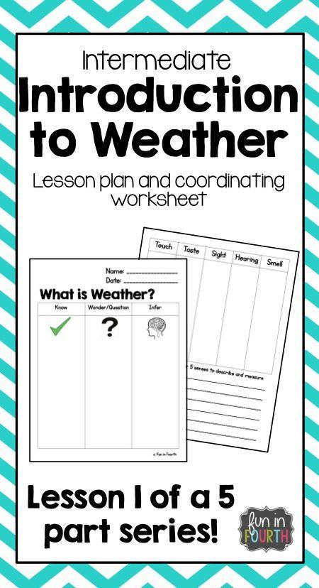 Introduce weather to your intermediate class with this lesson. No prep needed! Simply print and use!