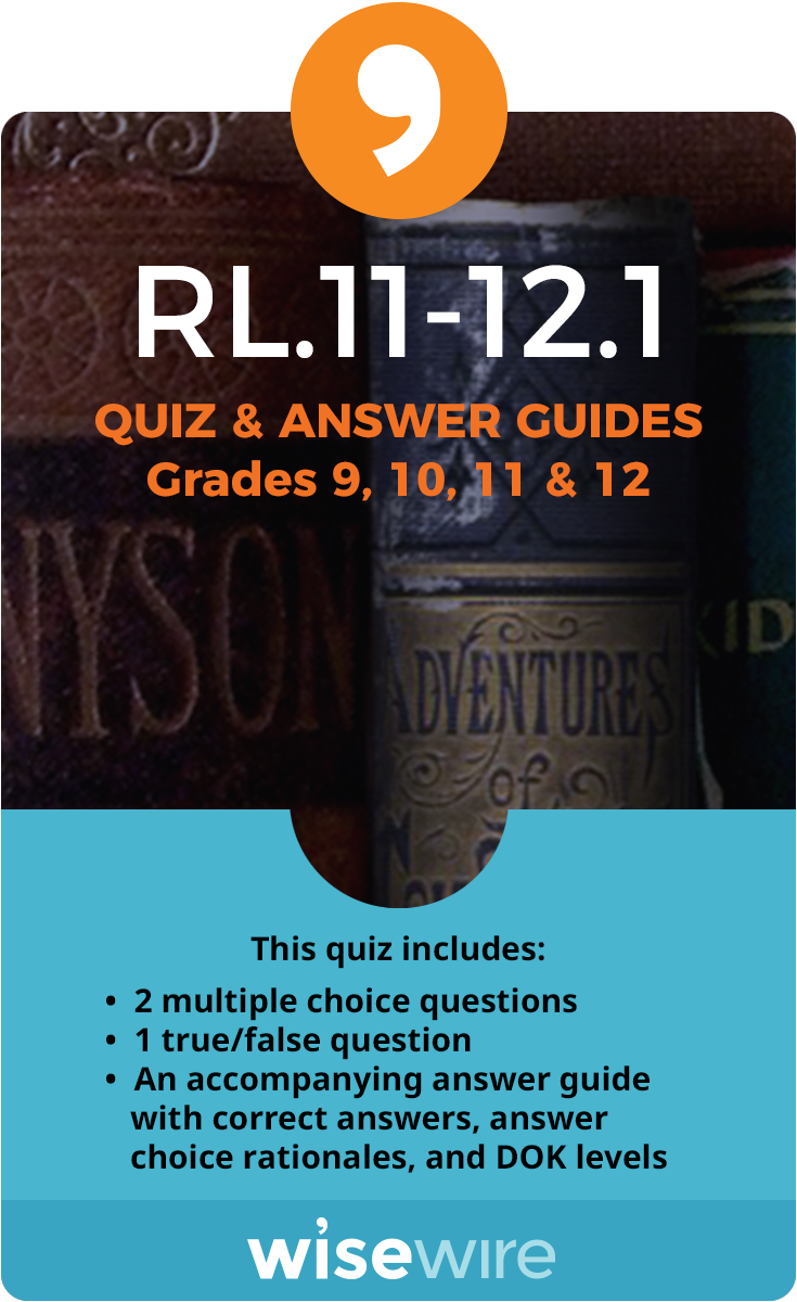 RL 11-12 1 Practice Question , Videos, Apps, Infographics - Grade 11