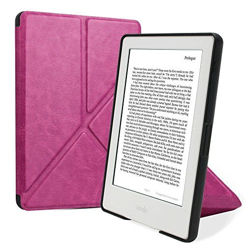 """Leafbook Origami Case for All-New Kindle E-reader (8th Generation 2016) - The Thinnest and Lightest SmartShell Cover with Auto Wake/Sleep for Amazon Kindle (6\"""" Display,8th Gen 2016 Release).Purple ** Details can be found by clicking on the image."""