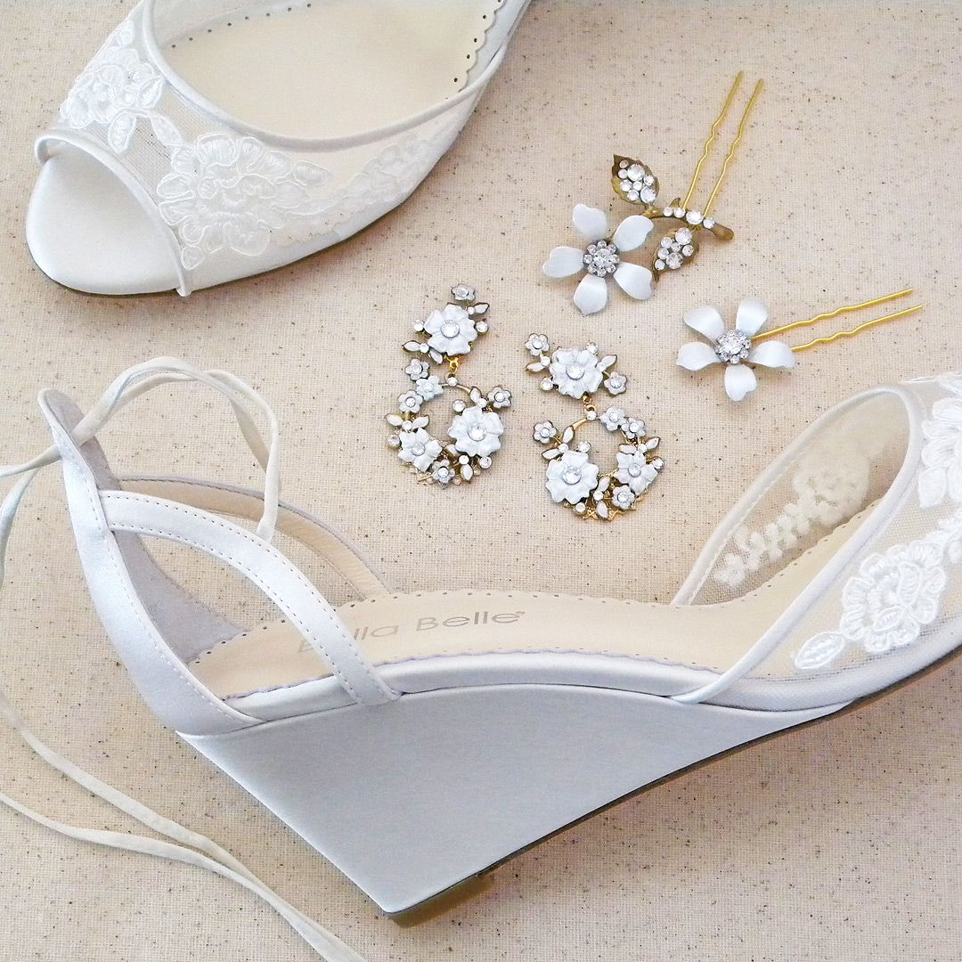 Lace Wedding Shoes, Wedges