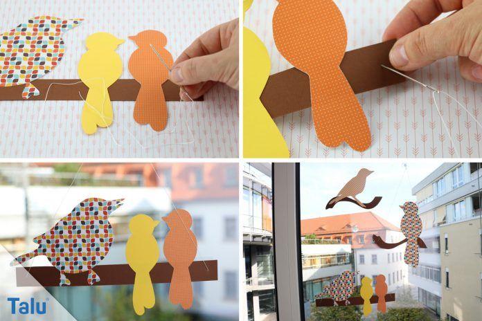 herbstfensterdeko selber machen  anleitung und kreative