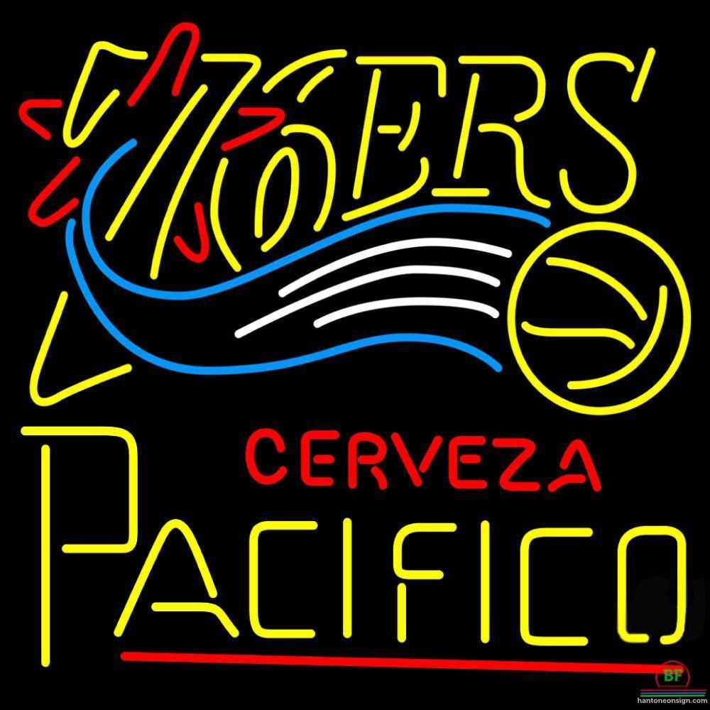 Cerveza Pacifico Philadelphia 76ers Neon Sign NBA Teams