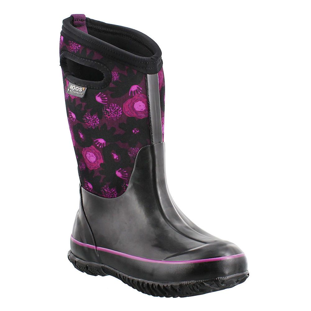 Details about Bogs Muck Boots Girls Kids Classic Watercolor ...
