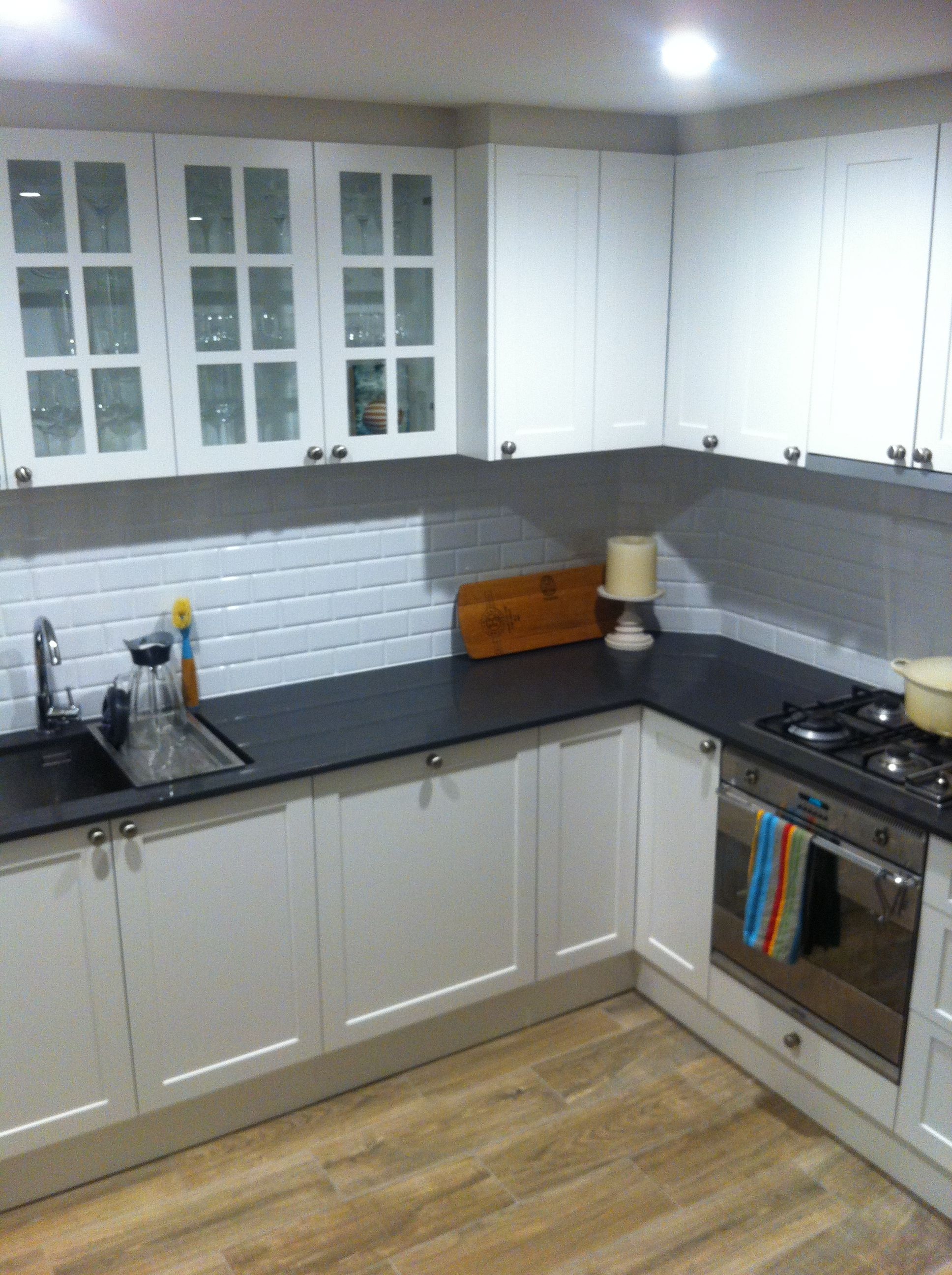 New Kitchen Led Lights Polyurethane Cupboards In Dulux Natural