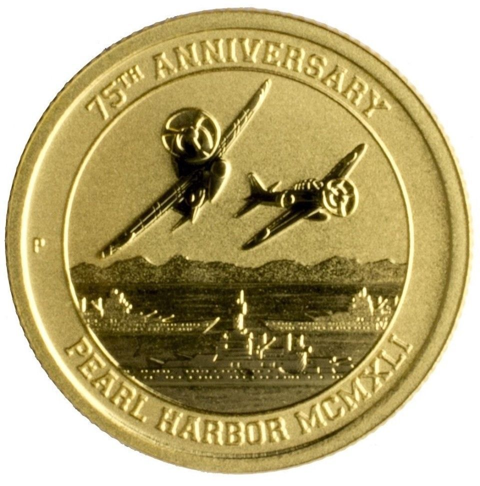 2016 P Australia Pearl Harbor Perth Mint 1 10 Oz 9999 Gold Coin 75th Anniversary Gold Coins For Sale Gold Coins Gold Bullion Coins