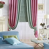 (Two Panels) Country Pure Solid Energy Saving Curtain. Get wonderful discounts up to 70% Off at Light in the box using Coupons.