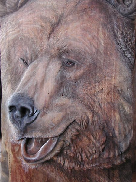 Tahoe log works custom work sculpture relief