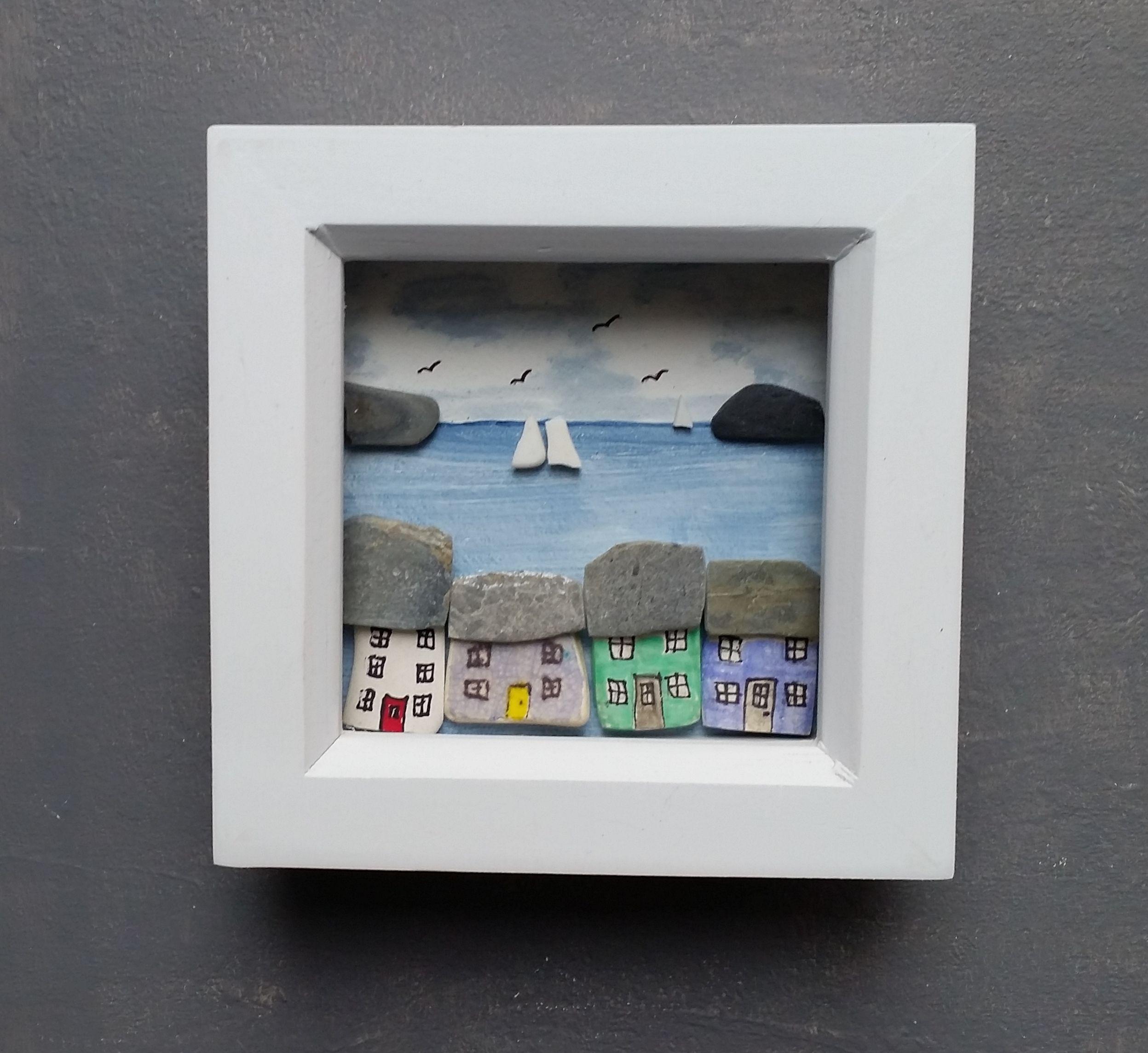 Nautical Wall Decor Mix And Match Coastal Scenes In Mini Frames Beach House Wall Art Nautical Wall Decor Sea Glass Art Framed Wall Art