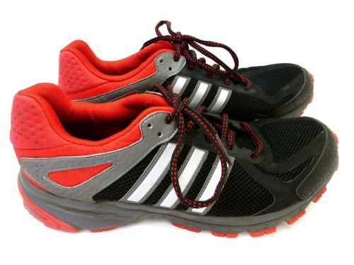 ADIDAS Mens Black Red Litestrike Eva Running Sports Trainers UK 10