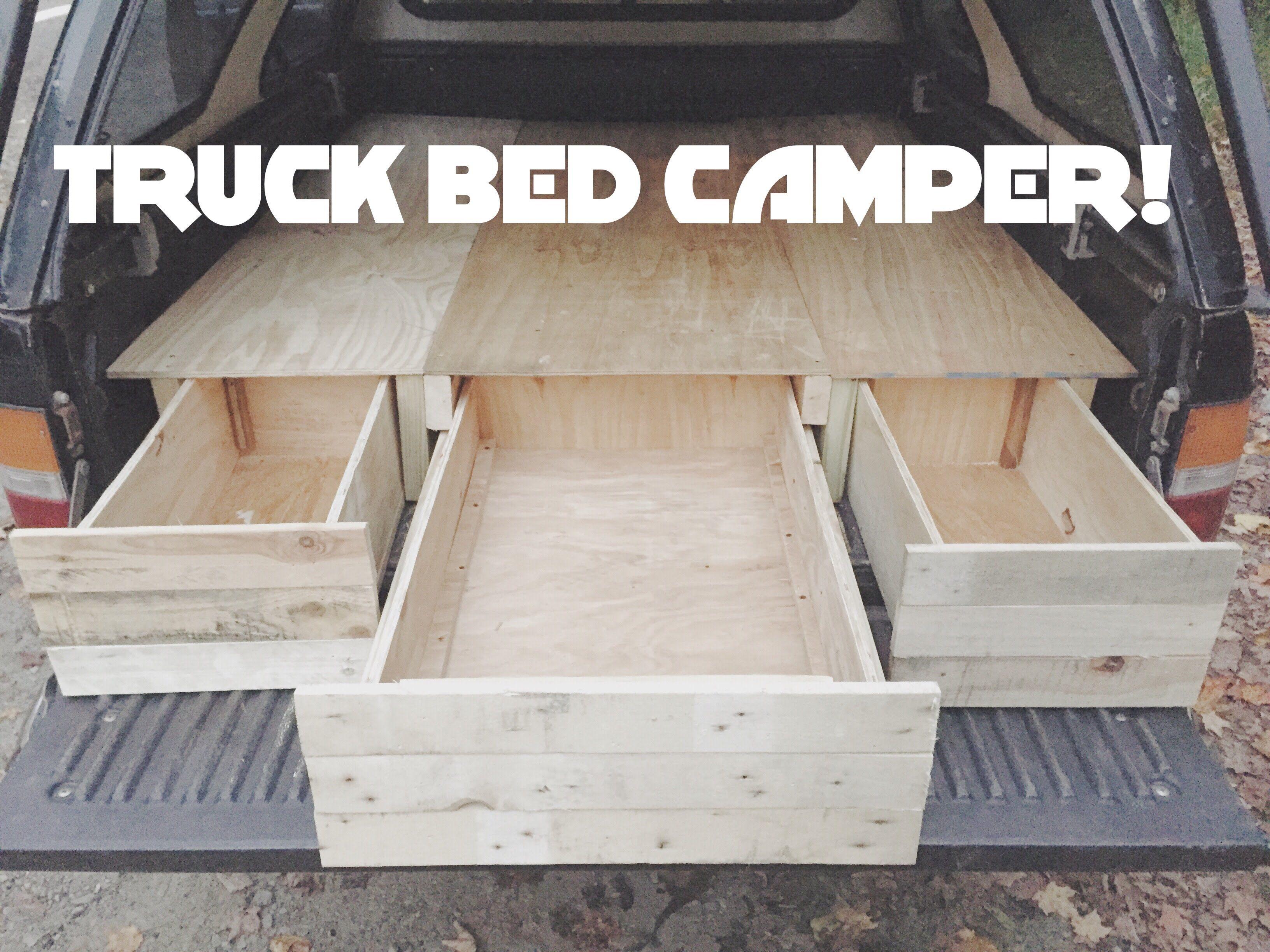 DIY Truck Cap Bed Camper Part 1! ayuda Pinterest
