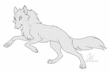 Photo of [P2U] Wolf lineart by Mistrel-Fox on DeviantArt
