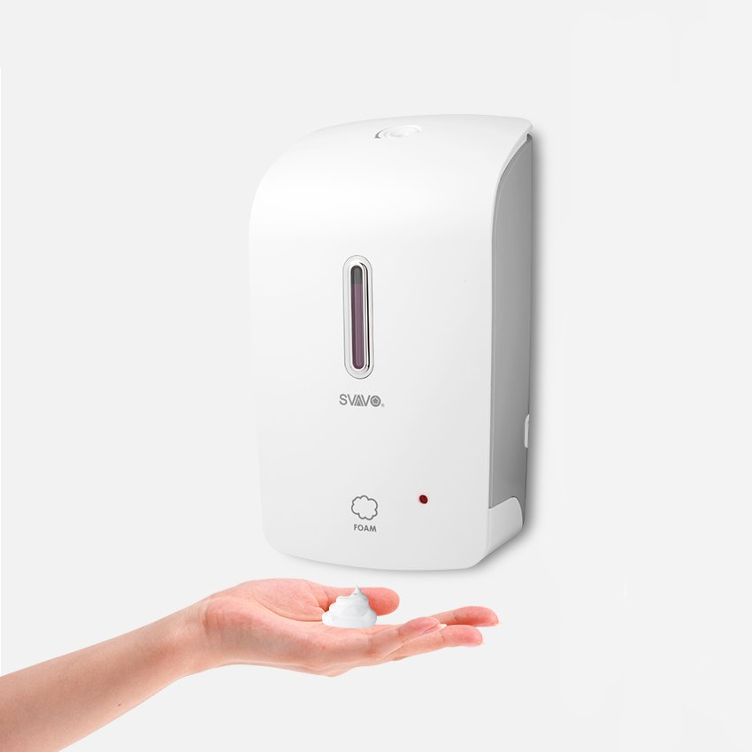 Wall Mounted Hand Sanitizer Automatic Foaming Kitchen Soap Dispenser White With Adaptor In 2020 Kitchen Soap Dispenser Kitchen Soap Shower Soap Dispenser