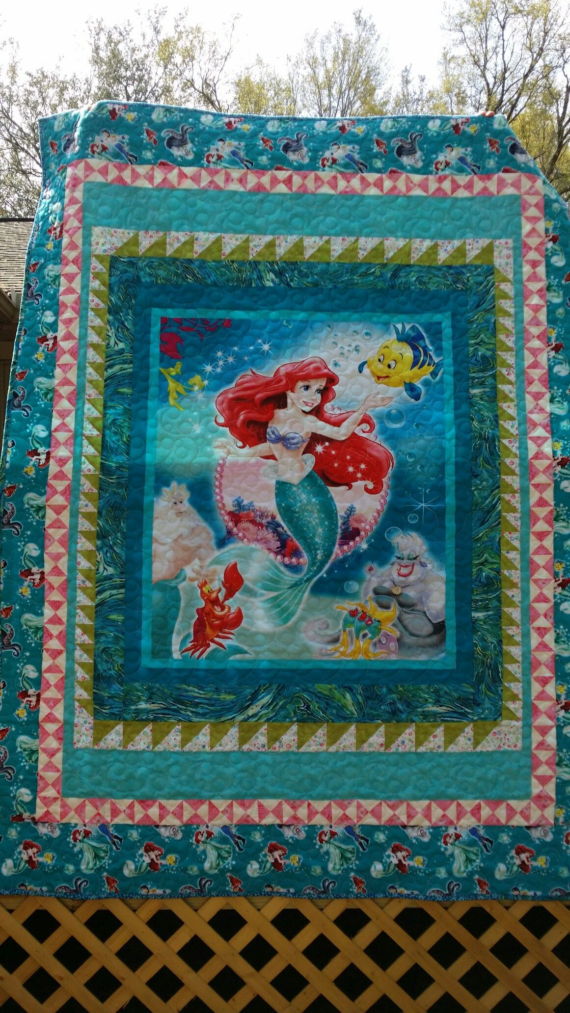 Fabric Cushion Craft Quilting Panel Angel Of The North