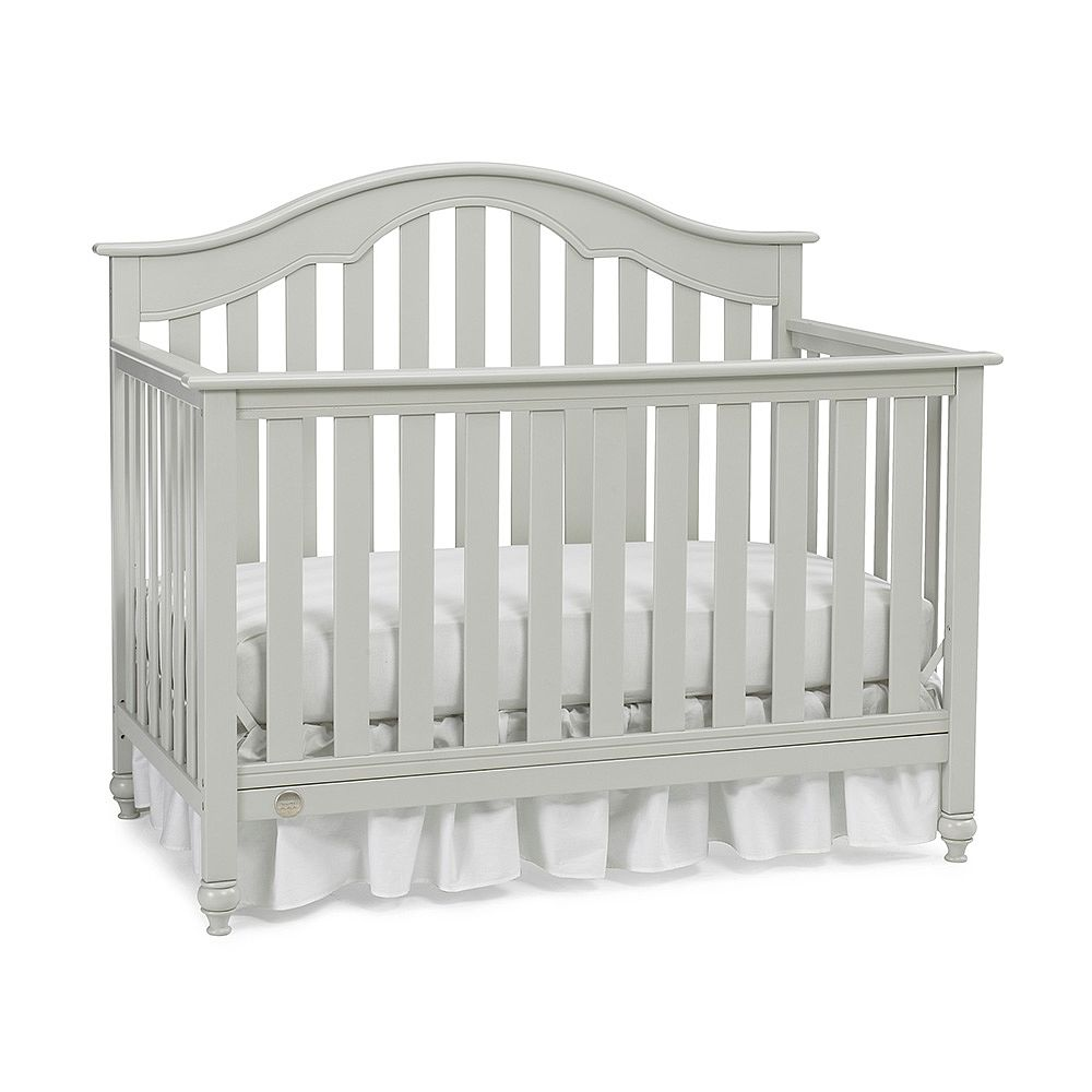 Crib heights for babies - Fisher Price Kingsport Convertible Crib With Just The Right Height Misty Grey Fisher