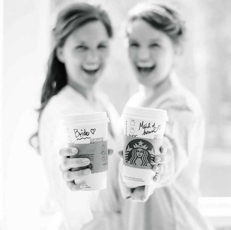 Adorable Bride And Maid Of Honor / Sister Duo Getting