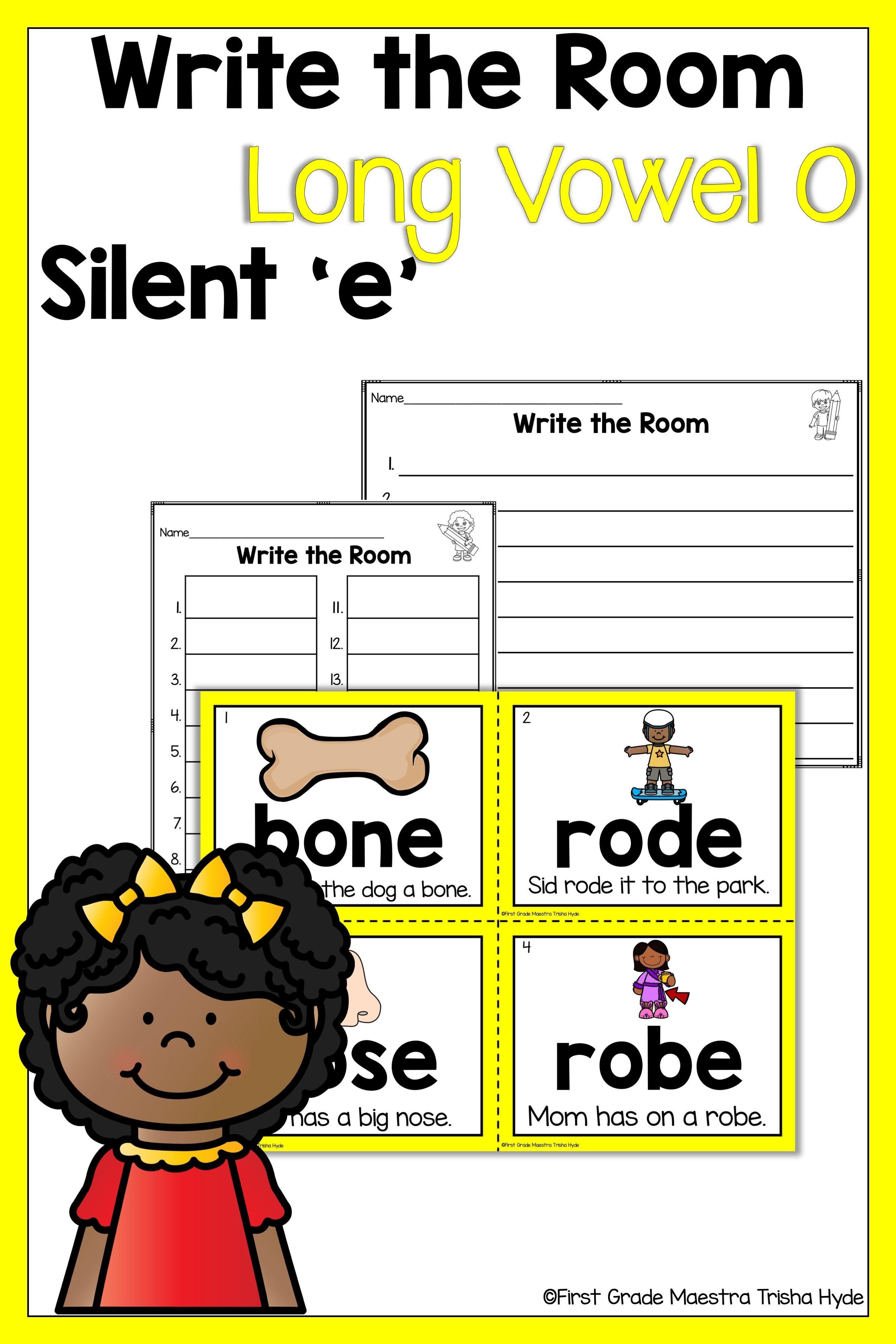 Write The Room Long Vowel O Silent E Kindergarten Writing Kindergarten Worksheets First Grade Writing [ 4000 x 2667 Pixel ]