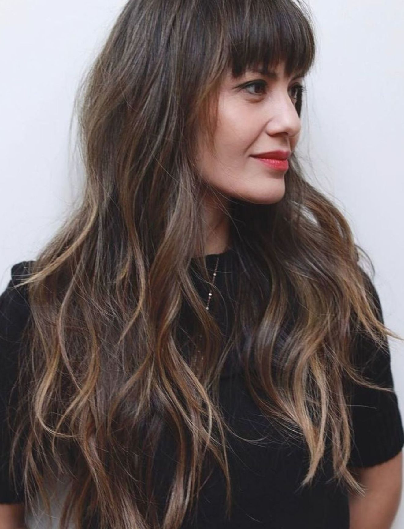 Pin By Abbott On 2021 Haircut Curly Hair Styles Naturally Long Layered Haircuts Layered Haircuts With Bangs